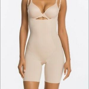 SPANX Shapesuit Thinstincts Open Bust Nude NWT S